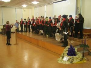 Choir singing German songs